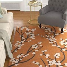 Charlton Home Dykstra Hand-Crafted Orange/Ivory Area Rug Charlton Home. Orange area rugs in various designs and styles. Orange Rugs, Yellow Area Rugs, Orange Area Rug, Navy Blue Area Rug, White Area Rug, Beige Area Rugs, Orange Home Decor, Dynamic Rugs, Hand Tufted Rugs