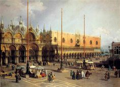 Tableaux sur toile, reproduction de Canaletto, Place Saint Marc, Venise