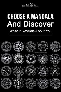 Choose A Mandala And Discover What It Reveals About You Sacred Geometry Meanings, Sacred Geometry Tattoo, Sacred Symbols, Celtic Tattoo Symbols, Wiccan Symbols, Viking Tattoos, Ancient Symbols, Mandala Quotes, Mandala Art