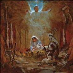 The Nativity Unframed Canvas (stretched) by Brian Jekel