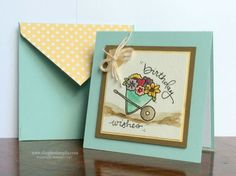 Birthday Wishes is a polymer stamp that can be curved around the image. Very Cool technique!