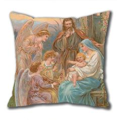 Novel Design The Christ Child Standard Size Design Square Pillowcase/Cotton Pillowcase with Invisible Zipper in 40*40CM (5267)-52740 $21.88