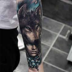 Wolf tattoos continue to be one of the most popular tattoo ideas for men. With many meanings, some men choose a wolf tattoo because it symbolizes power, strength, freedom, and raw…View Wolf Sleeve, Wolf Tattoo Sleeve, Sleeve Tattoos, Tattoo Wolf, Wolf Tattoos Men, Animal Tattoos, Black Tattoos, Wolf Tattoo Design