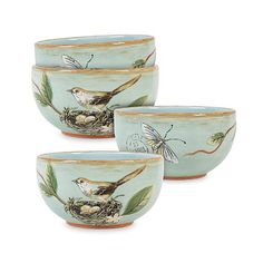 Fitz & Floyd - 'Toulouse' Collection - Small Round Bowls, Green