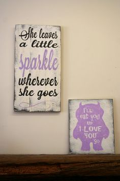 She Leaves A Little Sparkle Wherever She Goes Pallet Sign Girls Nursery Sign Lavender Nursery Decor Girls Bedroom Sign Baby Gift Shabby Chic