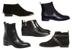 Ancle boots, low heel. (Min mote: 10 ankelstøvletter som passer til alt.)