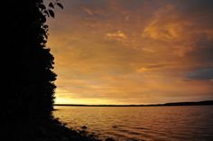 One of our favourite spots to camp in Ontario: Sunrise over Parry Sound Bay, Lighthouse Point, Killbear Provincial Park