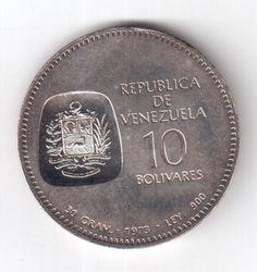 Moeda de Prata - Venezuela - 1973 - Simon Bolivar - 30g..