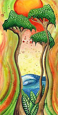 heather Ritts surf art