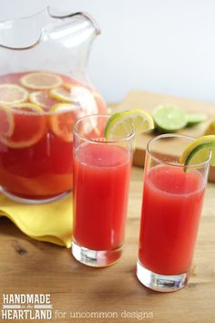 Watermelon Lemon-Limeade. Full of Summer's most adored fruits ! The ...