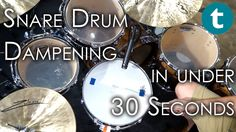 Everybody loves to play open, but sometimes you just have to muffle your snare in order for the soundguy to be able to get your sound right. Clemens from our drum department shows you what and what not to use and how the sound differs from the open snare. #snare #drums #fun #tuning #dampening #drum #tip #tipps
