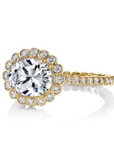 Oval yellow gold engagement ring | Style 'Zoey' by Erica Courtney |