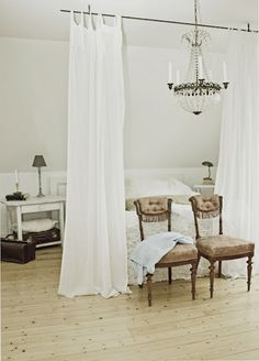 Studio Apartment Curtain Divider