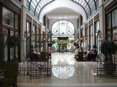 Interior_of_the_Gresham_Palace. Palace Interior, Local Architects, Art Nouveau Architecture, Palace Hotel, New Property, Four Seasons Hotel, Hostel, Hotel Budapest, Hungary