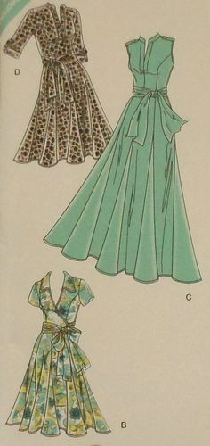 Tie Dress/ Gown Sewing Pattern