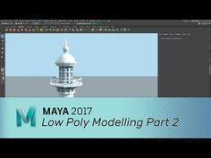 Maya 2017 - Low Polygon Modelling - part 2 - YouTube