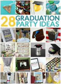 You may use these 28 Fun Graduation Party Ideas for your own get together! These DIY party ideas will come in handy and save you some money, too!