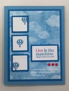 Stampin' Up's Collage Curios - Hot Air Balloon