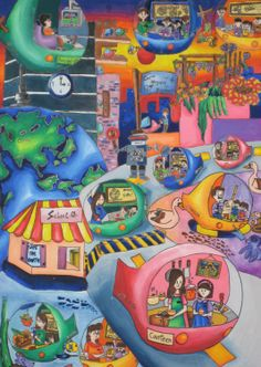 '100% Safety Study Automobile' by Ho Ling Ling, Aged 14, Malaysia: 4th Contest, Bronze #KidsArt #ToyotaDreamCar