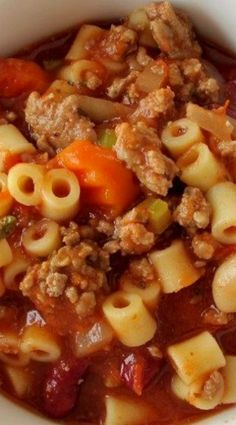 Pasta Fagioli Soup so delicious on a chilly day, served with a crusty Italian bread.