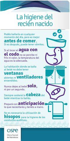 Conocé qué cuidados se deben tener al bañar al recién nacido #Prevencion #OSPe