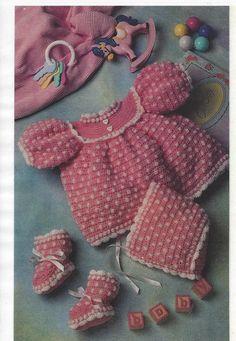 Crochet Pattern Baby Infant Adorable by NanasVintagePatterns, $3.99