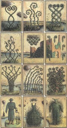 'Eisbergfreistadt' handcoloured playing cards by Kahn & Selesnick Tarot, Weed Art, Game Theory, Cartomancy, Art Things, Green Man, Cute Images, Inspiring Art, Deck Of Cards