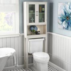 Rebrilliant Poyner W x H Over the Toilet Storage for sale online Large Bathrooms, Amazing Bathrooms, Small Bathroom, Bathroom Ideas, Bathroom Wall, Bath Ideas, White Bathroom, Bathroom Designs, Master Bathroom