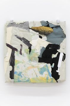 ANA CARDOSO Concrete Collage (mackerel), 2013 Mixed media 16 x 16 in / 40.6 x 40.6 cm