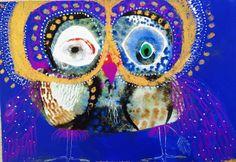 Jessie Breakwell Art Education Lessons, Art Lessons, School Art Projects, Art School, Owl Illustration, Illustrations, Owl Artwork, Bird Art, Mixed Media Art