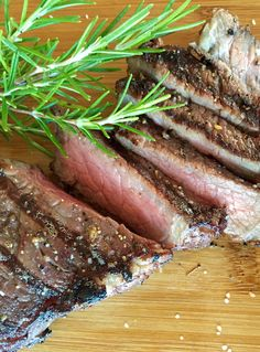 Red wine rosemary steak. Thick new york strip steaks marinated in a red wine & rosemary marinade.
