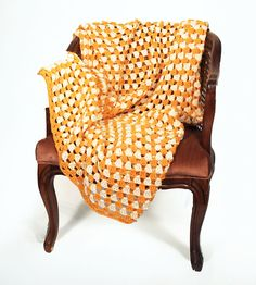 Yellow & White Crochet Blanket by Kalee Michele on Scoutmob