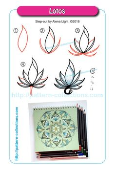 Doodle Patterns 565061084494628779 - Lotos by Alena Light Source by Zentangle Drawings, 3d Drawings, Doodles Zentangles, Doodle Drawings, Zen Doodle Patterns, Zentangle Patterns, Doodle Borders, Tangle Doodle, Tangle Art