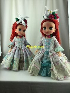 I repaint & made new clothes Original Disney animator doll little mermaid Ariel for more of fancy looks. All my creations are sold at🍄Pitapats.com🍄 #Disney #disney_animators_dolls #littlemermaid #disney_little_mermaid #ariel_doll #modified #repaintdoll #new_doll #handmadedoll #doll_dresses #countess_doll #rococo_dress #rococostyle #countess_style