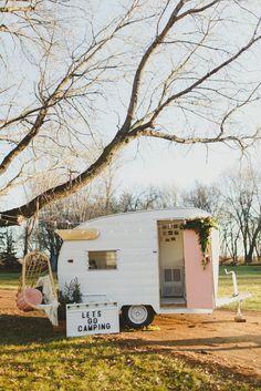 Vintage Shasta camper renovation