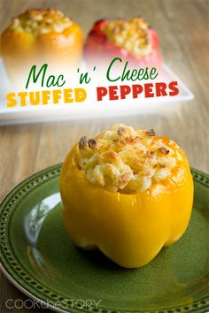 USE GF pasta - Easy Macaroni and Cheese Stuffed Peppers! Delicious Macaroni And Cheese Recipe, Macaroni Cheese Recipes, Mac Cheese, Pasta Recipes, Dinner Recipes, Recipe Pasta, Cheese Soup, Dinner Ideas, Great Recipes