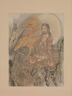 Framed Print-Shakyamuni Conquering the Demons (Shaka Goma-zu), ca. Creator: Kawanabe inch Frame and mount made in the UK Buddhist Teachings, Buddhism, Buddha Wisdom, Poster Prints, Framed Prints, Bodhi Tree, Demon King, Art Institute Of Chicago, Japanese Painting
