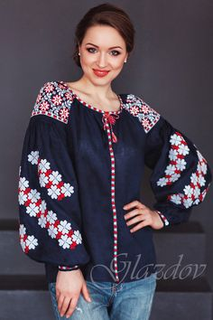 Vyshyvanka, embroidered ukranian blouse