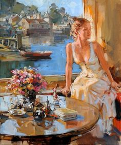 Kai Fine Art is an art website, shows painting and illustration works all over the world. Woman Painting, Figure Painting, Painting & Drawing, Hand Painting Art, Aesthetic Painting, Aesthetic Art, Romance Arte, Classical Art, Fine Art