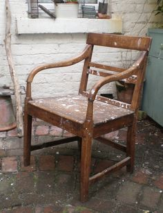 Luxury Vintage Folding Wooden Chair