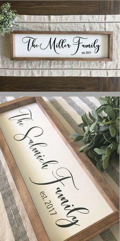 Family Name Sign | Family Established Sign | Family Established Wood Sign | Last Name Sign | Rustic Home Decor | Farmhouse Decor #familynamesign #familysign #farmhouse #farmhousesign #farmhousedecor #farmhousestyle #gallerywall #woodsign #rusticdecor #ad