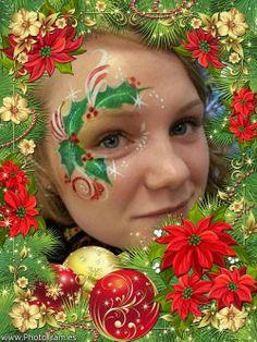 Christmas holly eye design