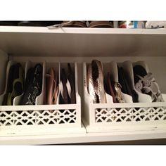 flip flop/sandal organizer for closet