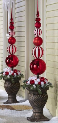 5c6ad70bbe1 I like these for the front porch. Christmas Porch
