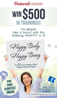 Enter to Win our #Happy Body Happy Being Contest for a chance to win free trainings from Rikka Zimmerman. Valued at over $1,000! http://HappyBodyHappyBeing.com/Contest