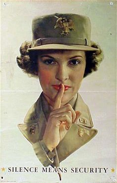 American Propaganda Poster showing that the U.S. had women in uniform -- From the Truman Presidential Library Web Site