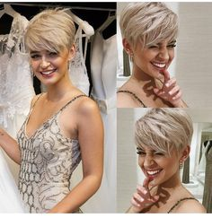 Korte kapsels Latest Short Hairstyles, Short Pixie Haircuts, Funky Hairstyles, Hair Cuts For Over 50, Short Hair Cuts For Women, Short Hair Styles, Short Brunette Hair, Short Blonde, Blonde Haircuts