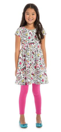 I'm loving this new Pink Girly Graffiti outfit from #FabKids ... it has the cutest bow back AND you can pick what color leggings to get with it!