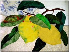 Image result for lemon applique quilt