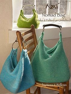 Noni Nomad Hobo Bag Pattern No. 141 at Dream Weaver Yarns LLC